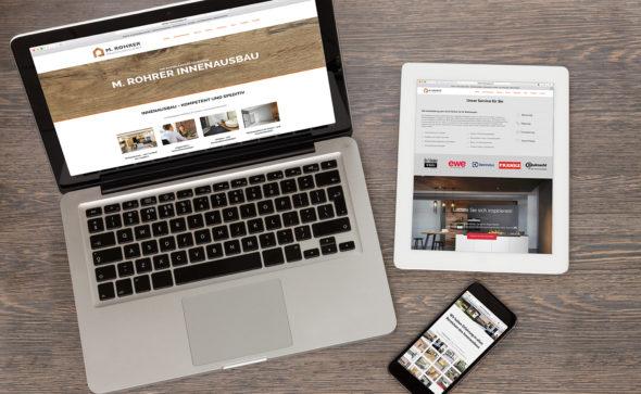 Rohrer Innenausbau - Corporate Design, Webdesign