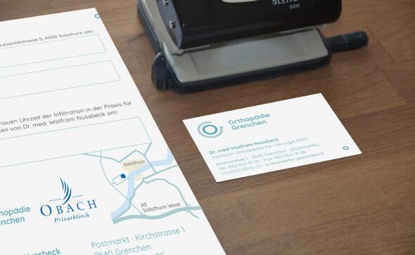 Orthopädie Grenchen - Corporate Design, Logoentwicklung