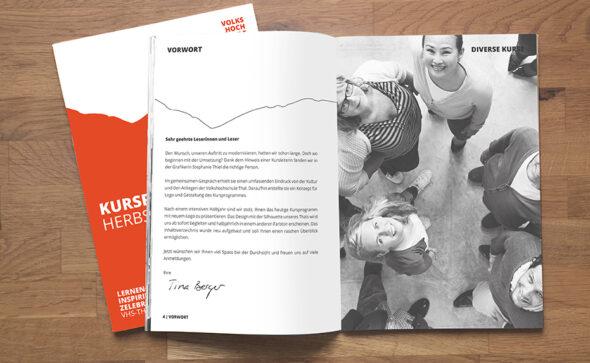 VHS Thal Corporate Design - Gestaltung Kursprogramm